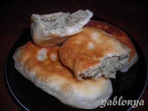 Татарские пирожки с печенью