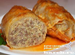 Голубцы с мясом и пшеном по-татарски